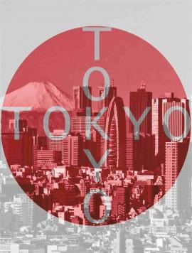 MAGLIETTA IN 100% COTONE DA UOMO TITOLO TOKYO immagini