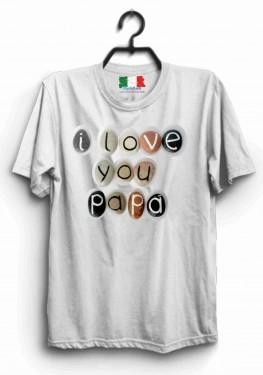 MAGLIETTA IN 100% COTONE PER LA FESTA DEL PAPA' TITOLO : I LOVE PAPA изображений