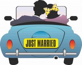 MAGLIETTA IN 100% COTONE UOMO/DONNA PER MATRIMONI: JUST immagini