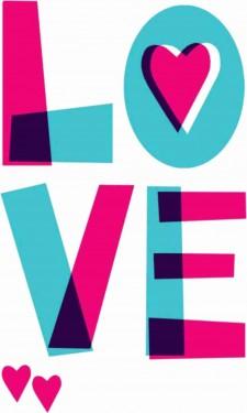 MAGLIETTA IN 100% COTONE UOMO/DONNA PER SAN VALENTINO: LOVE COLOR imágenes
