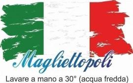 MAGLIETTA NERA 100% COTONE SCOLLO LARGO immagini