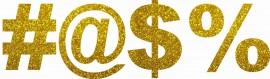 MAGLIETTA NERA 100% COTONE  STAMPA GLITTERATO : dollar immagini