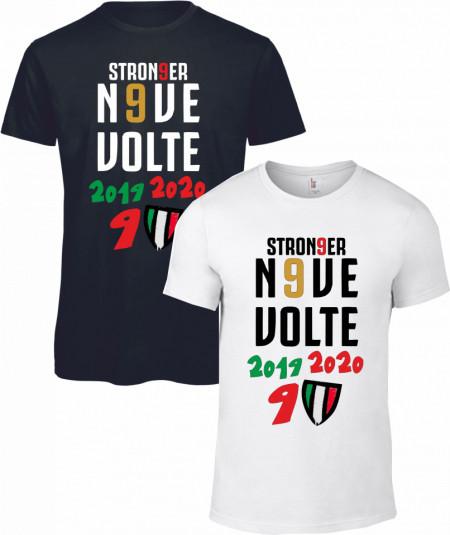 Maglietta bianca e nera da uomo e da donna Campioni di Italia изображений