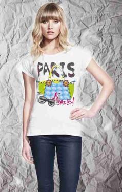 MAGLIETTA IN 100% COTONE DA DONNA TITOLO PARIS immagini