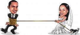 MAGLIETTA IN 100% COTONE UOMO/DONNA PER MATRIMONI: CORDA imágenes