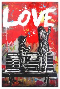 MAGLIETTA IN  COTONE FIAMMATO DA UOMO TITOLO LOVE изображений
