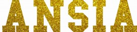 MAGLIETTA NERA 100% COTONE  STAMPA GLITTERATO : ANSIA immagini