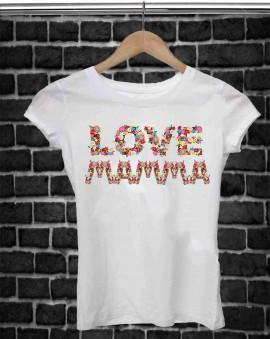 REGALA UNA MAGLIETTA PER LA FESTA DELLA MAMMA TITOLO: LOVE immagini