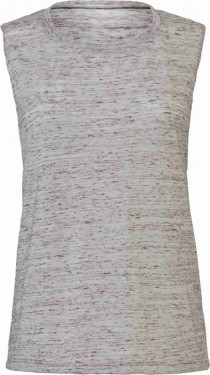 Tank Top Flowy Scoop Muscle EFFETTO MARMO CON STAMPA imágenes