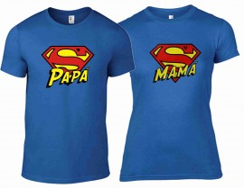 DUE MAGLIETTE IN 100% COTONE UOMO/DONNA : YOU AND ME COLORE ROYAL images