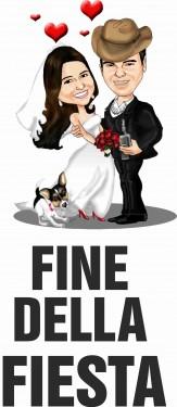 MAGLIETTA IN 100% COTONE UOMO/DONNA PER MATRIMONI: FINE immagini