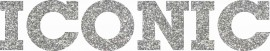 MAGLIETTA NERA 100% COTONE  STAMPA GLITTERATO : ICONIC immagini