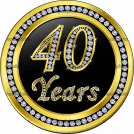 MAGLIETTA IN 100% COTONE UOMO/DONNA PER 40 ANNI TITOLO: 40 YEAR immagini