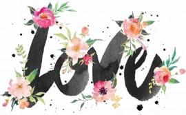 MAGLIETTA IN 100% COTONE UOMO/DONNA PER SAN VALENTINO: love flow immagini