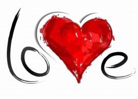 MAGLIETTA IN 100% COTONE UOMO/DONNA PER SAN VALENTINO: LOVES immagini