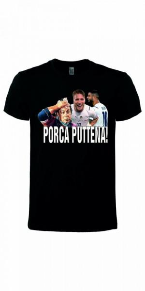 Maglietta unisex 100% cotone Porca Puttena imágenes