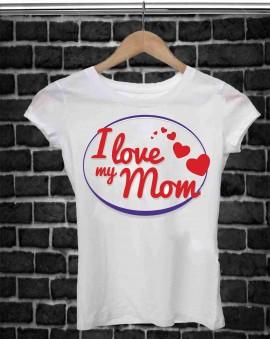 REGALA UNA MAGLIETTA PER LA FESTA DELLA MAMMA TITOLO: MOM immagini