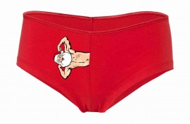 Coulotte Cotton Stretch rosso per natale imágenes