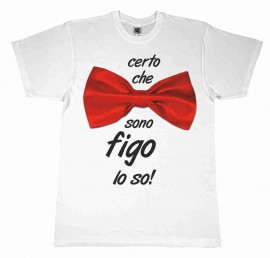 MAGLIETTA 100% COTONE BIMBO/A TITOLO SONO FIGO