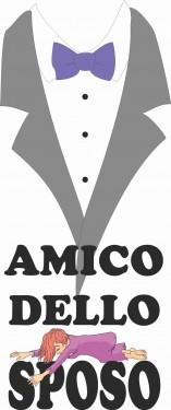 MAGLIETTA IN 100% COTONE UOMO/DONNA PER MATRIMONI: AMICO SPOSO imágenes