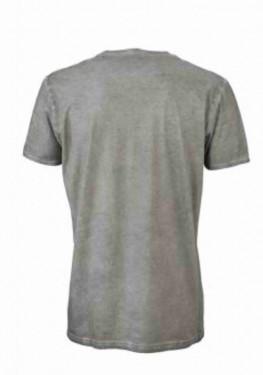T-shirt con scollo a v, 100% cotone single jersey con stampa immagini
