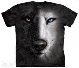 Black And White Wolf Face
