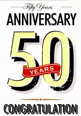 MAGLIETTA IN 100% COTONE UOMO/DONNA PER 50 ANNI TITOLO: 50 year immagini