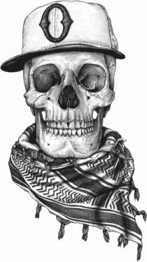 MAGLIETTA IN  COTONE FIAMMATO DA UOMO TITOLO FREDDO MORTALE immagini