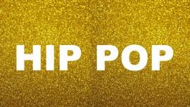 MAGLIETTA NERA 100% COTONE  STAMPA GLITTERATO : HIP POP immagini