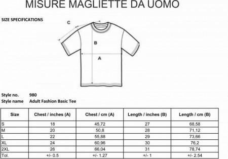 Maglietta unisex 100% cotone immagini