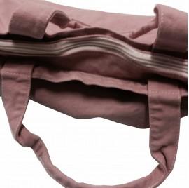 Shopper Rosa vintage Canvas con zip con solo un lato stampato immagini