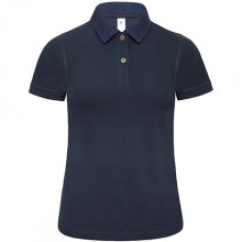 POLO DA DONNA PIQUE' COLLETTO DENIM