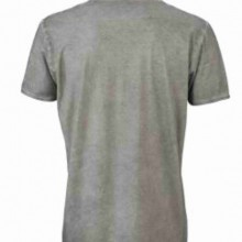 T-shirt con scollo a v, 100% cotone single jersey  VINTAGE con stampa MOTIVO NERD