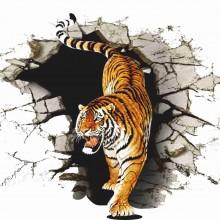 MAGLIETTA IN 100% COTONE DA UOMO TITOLO TIGER