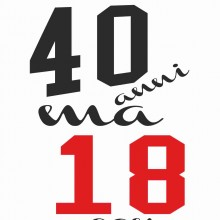 MAGLIETTA IN 100% COTONE UOMO/DONNA PER 40 ANNI TITOLO: 40 18 22