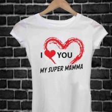REGALA UNA MAGLIETTA PER LA FESTA DELLA MAMMA TITOLO: I LOVE
