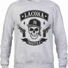 Felpa vestibilita' larga girocollo Fashion STAMPA Street Wear