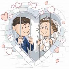 MAGLIETTA IN 100% COTONE UOMO/DONNA PER MATRIMONI: IN PRIGIONE