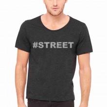 MAGLIETTA NERA 100% COTONE  STAMPA GLITTERATO : STREET