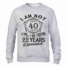 Felpa girocollo Fashion da uomo personalizzata con il tuo anno/mese di nascita