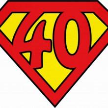 MAGLIETTA IN 100% COTONE UOMO/DONNA PER 40 ANNI TITOLO: SUPER 40