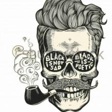 MAGLIETTA IN  COTONE FIAMMATO DA UOMO TITOLO SMOKE