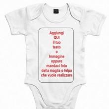 Body Baby da 0 a 24 mesi personalizzato