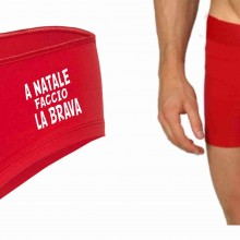 Coulotte Cotton Stretch rosso per natale