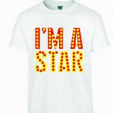 MAGLIETTA 100% COTONE BIMBO/A  TITOLO IAM A STAR