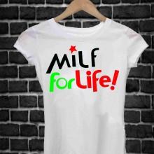 MAGLIETTA IN 100% COTONE UOMO/DONNA PER 50 ANNI TITOLO: MILF LIFE