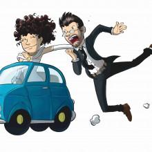MAGLIETTA IN 100% COTONE UOMO/DONNA PER MATRIMONI: AUTO