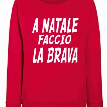 Felpa girocollo Fashion ROSSA