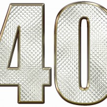 MAGLIETTA IN 100% COTONE UOMO/DONNA PER 40 ANNI TITOLO: FOUR