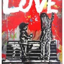 MAGLIETTA IN  COTONE FIAMMATO DA UOMO TITOLO LOVE